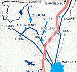 Localización de Olocau